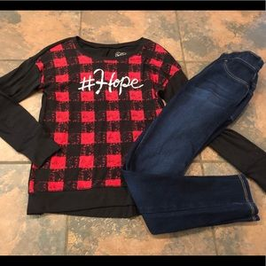 Cute outfit size 8 justice & old navy